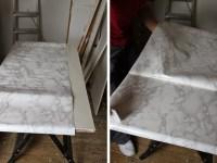 "Dressing Room Mini-Makeover: How to DIY a ""Carrara Marble ..."