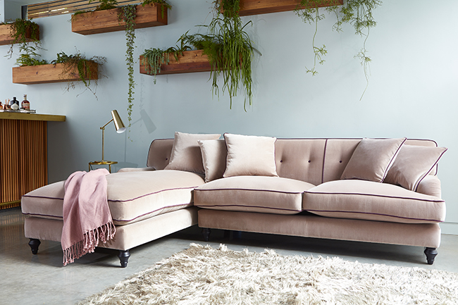pink sofa dating uk click clack beds with storage why you should probably buy a velvet in 2017 swoon worthy blush l shaped from darlings of chelsea