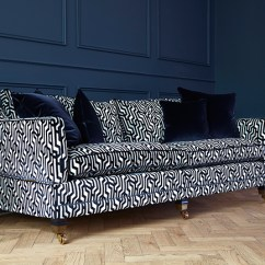Patterned Sofas Uk Recliner Sofa Sale Why You Should Probably Buy A Velvet In 2017 Swoon Worthy Navy Blue And White From Darlings Of Chelsea