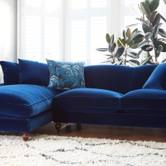 Navy Blue Velvet Sofa Grey Leather Dfs Why You Should Probably Buy A In 2017 Swoon Worthy