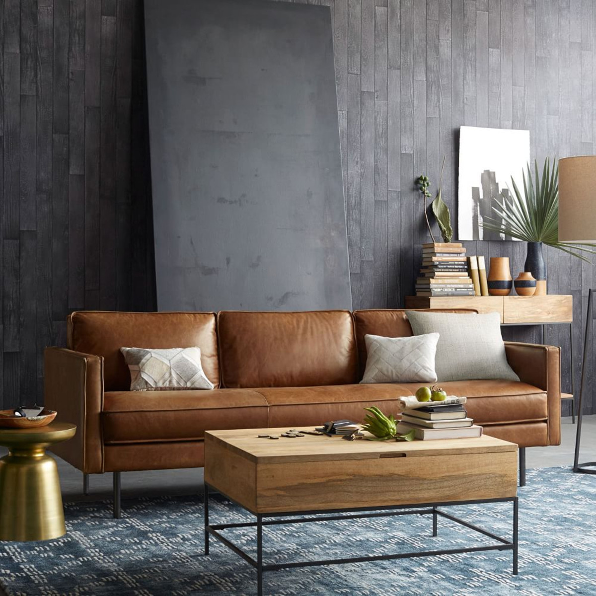 west elm hamilton leather sofa tan length cm a message to straight men it 39s cool like interior