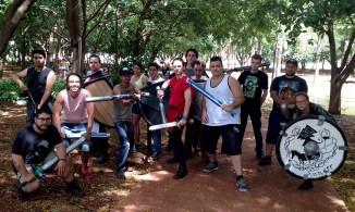 Treino Gladius Swordplay na Praça da Segmenta - Larp Boffering