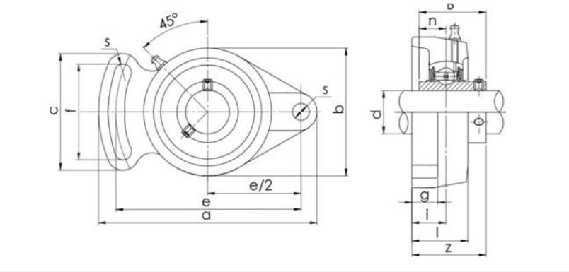 Bearing Unit UCFA Type Structure Diagram