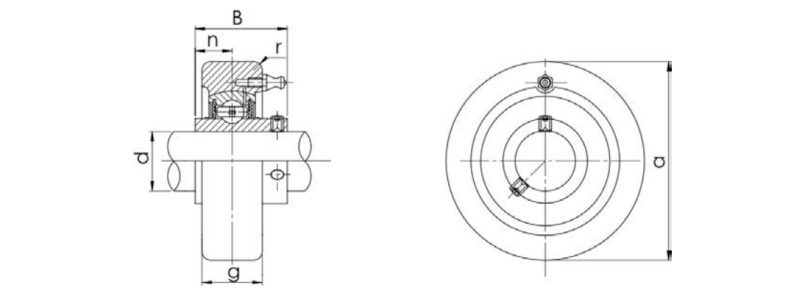 Bearing Unit UCC Type Structure Diagram