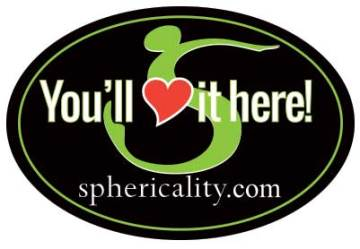 Sphericality Love It Here Sticker
