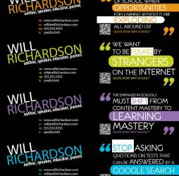 Will Richardson Business Cards