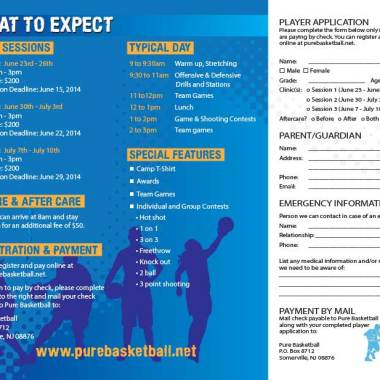 Pure Basketball Camp Brochure Inside