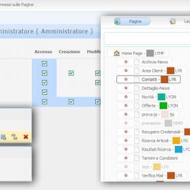Per gestire diverse tipologie di utenza e di permessi (web designer, amministratori sito, ecc.)