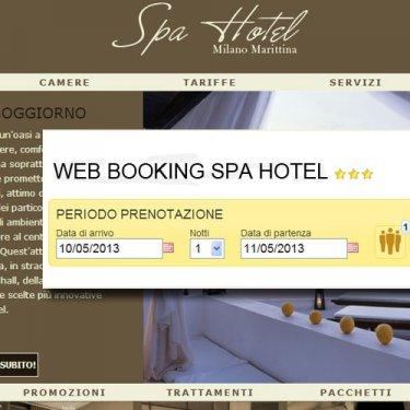 Possibilità di verificare la disponibilità e prenotare una camera collegata al gestionale Welcome