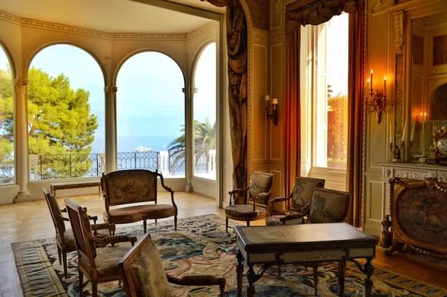 Salon with sea view, Rothschild Villa, Nice, France