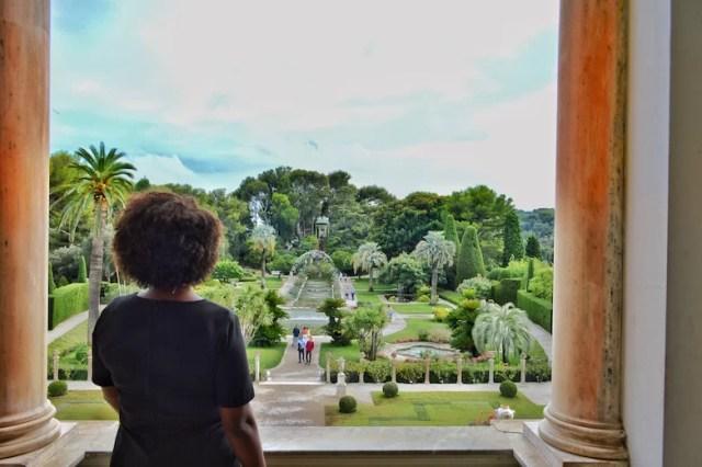 Upstairs view of garden, Rothschild Villa, Nice, France