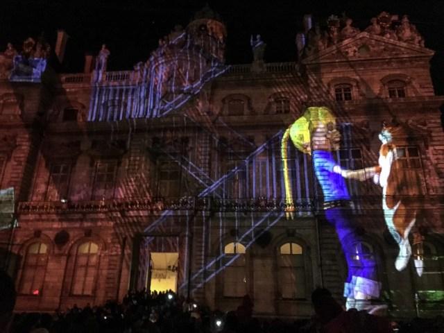 Fête des Lumières Place des Terreaux in Lyon, France