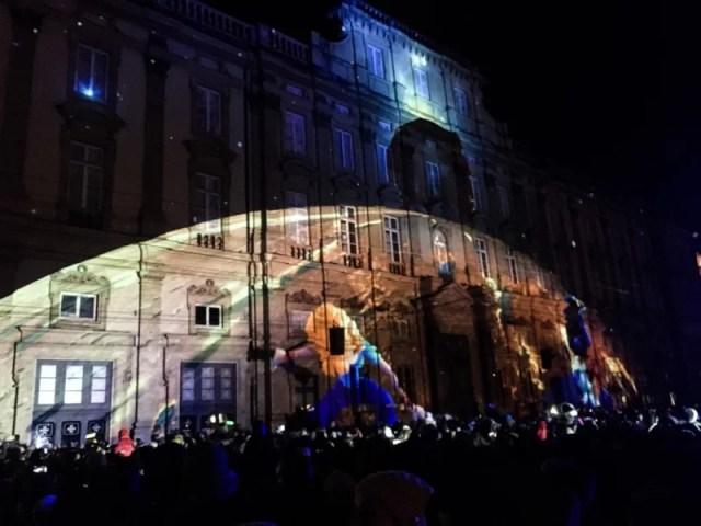 Fête des Lumières Place des Terreaux in Lyon