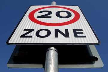 20MPH Zone Sign