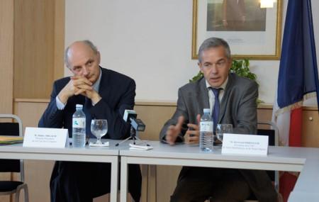 Didier Migaud, Premier Président de la Cour des Comptes et Bertrand Diringer, Président de la Chambre Territoriale des Comptes de Saint-Barthèlemy et Saint-Martin