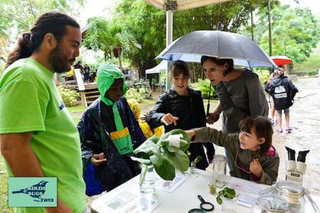 La pluie n'a pas dissuadé les participants. (Photo by Chemaine Petit-Booi)