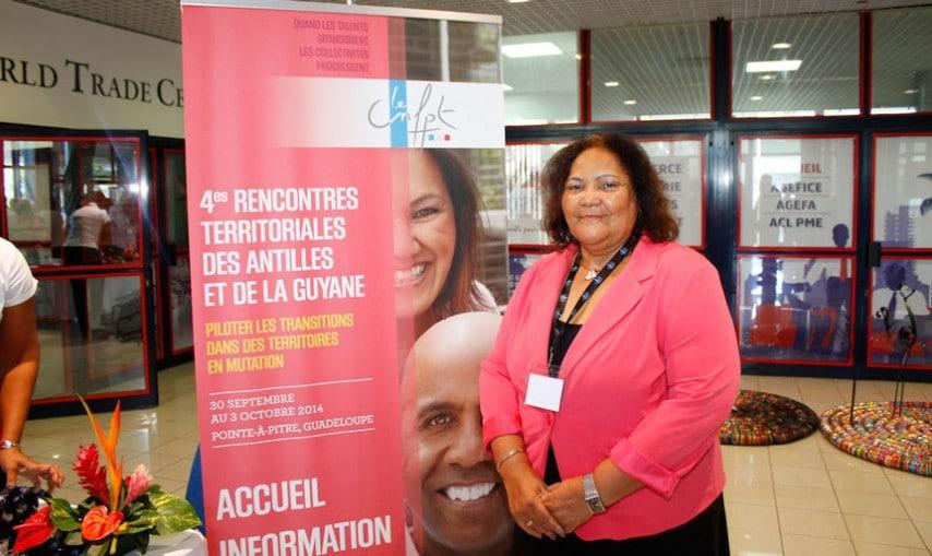 Madame Aline Hanson, Présidente de la Collectivité de Saint-Martin