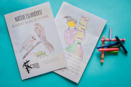 Des livres d'activités sur les animaux indigènes seront offerts gratuitement au Festival des Animaux Endémiques ce dimanche.
