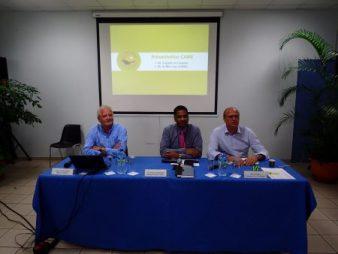 Messieurs Eric Koury, Christian Marchand et Serge Tsygalnitzky, les trois dirigeants du groupe CAIRE