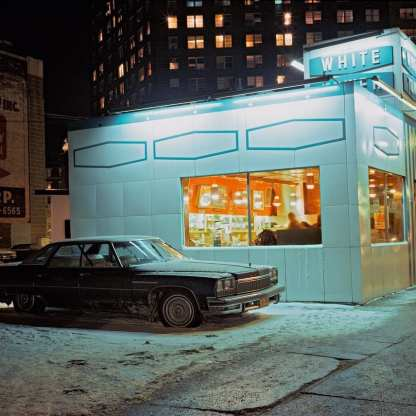 White Tower car, Buick LeSabre, Meatpacking District, 1976