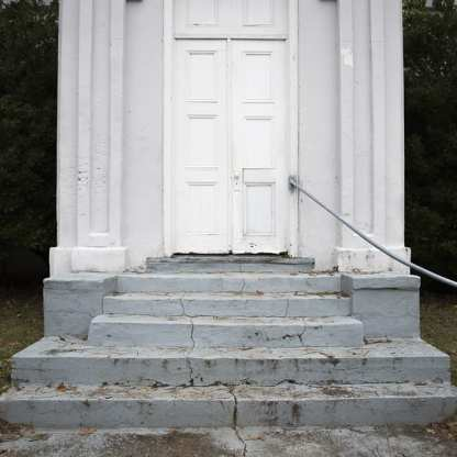 Gray Stairs, White Door, Port Gibson, MS ©Forest McMullin