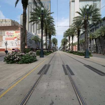 Canal Street, New Orleans, during Covid lockdown ©Jill Moore