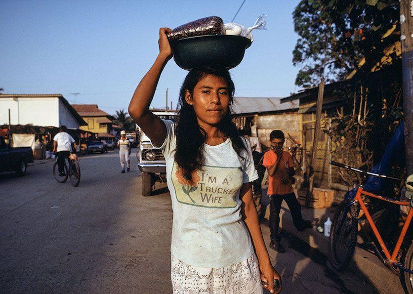 Young Woman at Market, Honduras, 1994 ©Ben Marcin