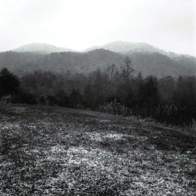 """Snow at White Rock Hall,"" Home of Keith Flynn, Marshall, NC"