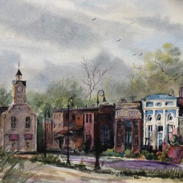 Watercolor in the Georgia Piedmont | Plein Air & Classroom Workshop | with Peter Potter and Bambi Rogers | April 13th