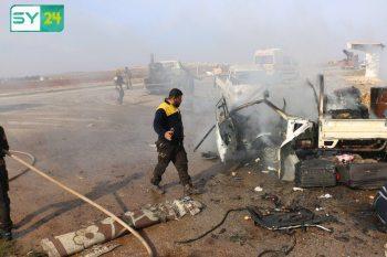 عشرات القتلى بقصف على إدلب