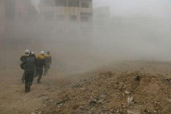 عشرات القتلى والجرحى بقصف جوي على الغوطة الشرقية