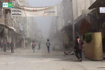 المجازر بحق المدنيين في مدن وبلدات الغوطة الشرقية