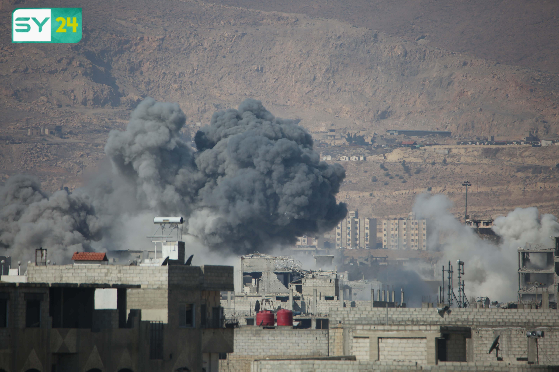 النظام السوري يمطر مدينة في الغوطة الشرقية بمئات القذائف والصواريخ
