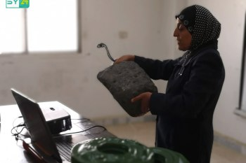 الشرطة الحرة تقيم ندوة توعوية للنساء عن مخلفات الحرب في بصرى الشام بدرعا