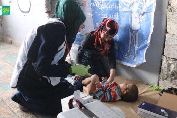 بدء حملة لقاح لأطفال الغوطة الشرقية في ريف حلب