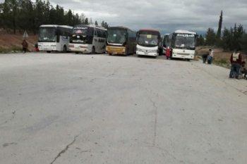 وصول الدفعة الأولى من مهجري القلمون الشرقي إلى ريف حلب