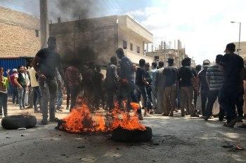 مظاهرة في جرابلس تطالب بإنهاء المظاهر المسلحة
