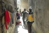 الدفاع المدني ينقذ طفلة انهار بها درج المنزل في ريف إدلب