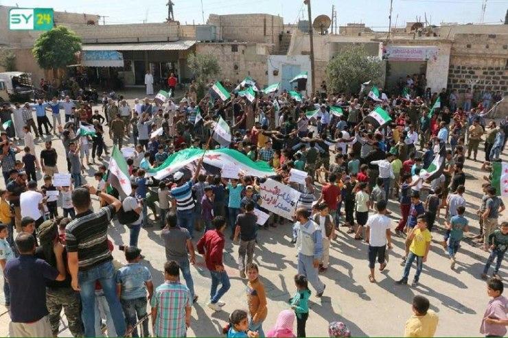 """مظاهرة في بلدة """"كلجبرين"""" بريف حلب في جمعة """"الأسد مصدر الإرهاب"""""""