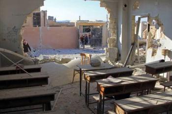 النظام يقصف مدرسة ويقتل طفلين في إدلب