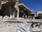 دمار هائل في منازل المدنيين بمدينة كفرنبل جنوبي ادلب