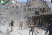 النظام يمطر ريف إدلب الجنوبي بالصواريخ ويقتل امرأة في بلدة كنصفرة