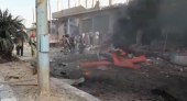 """ضحايا مدنيون بانفجار سيارة مفخخة في منطقة """"نبع السلام"""" بريف الرقة"""