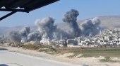 قصف مكثف لروسيا يوقع تسع ضحايا في حلب وإدلب