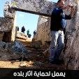 أيمن النابو.. خريج من كلية الآثار أسس مركزاً لحماية آثار بلده وتوثيق انتهاكاتها