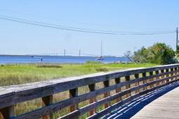 Jekyll Island, Blick auf die Sidney Lanier Bridge