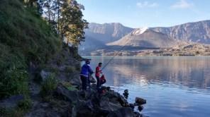Mancing di Danau Segara Anak