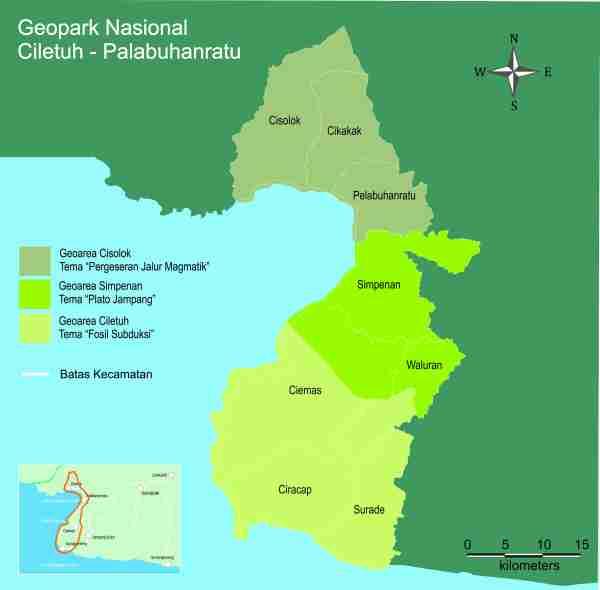 Peta Geopark Ciletuh-Palabuhanratu