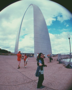 At the Gateway Arch, St Louis, Missouri