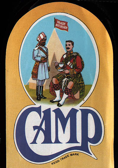 Camp Coffee label from Britain